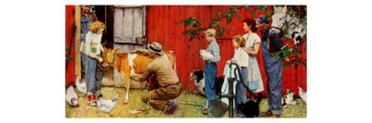 """Norman Rockwell Visits a County Agent"" by Mr. Rockwell is another of those iconic images so recognizable to a woman or man who grew up in rural USA during the 40s, 50s and 60s"