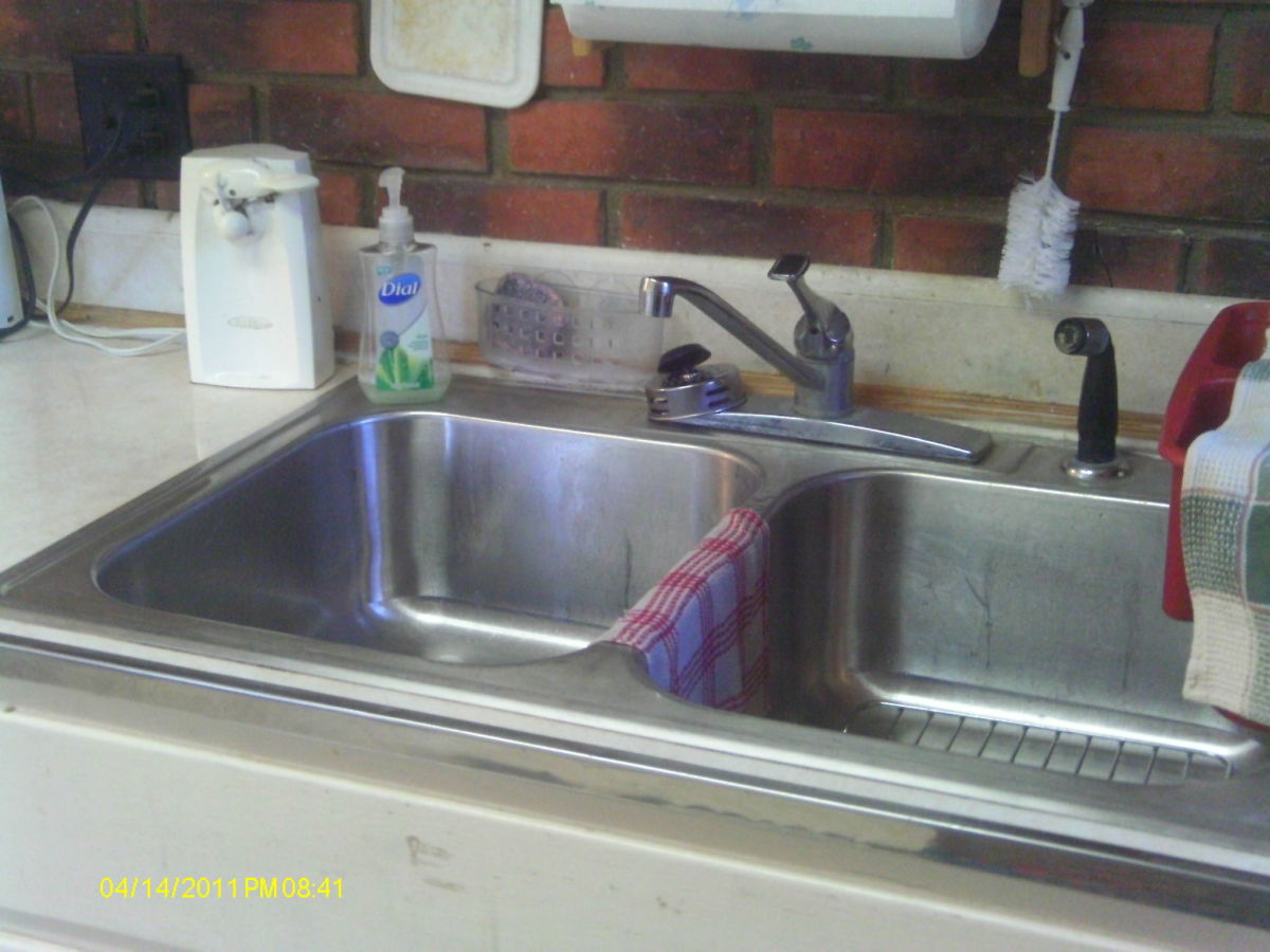 Drain and rinse sinks.