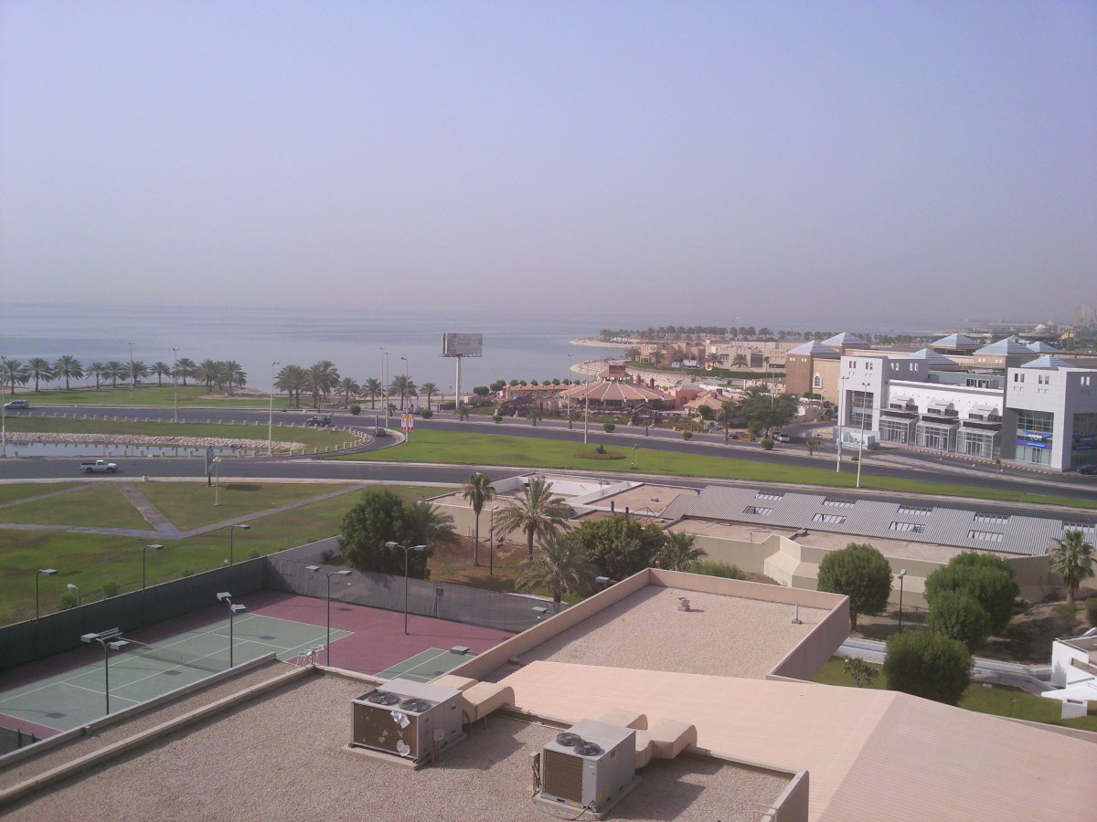 View of Al-Khobar sea front roads