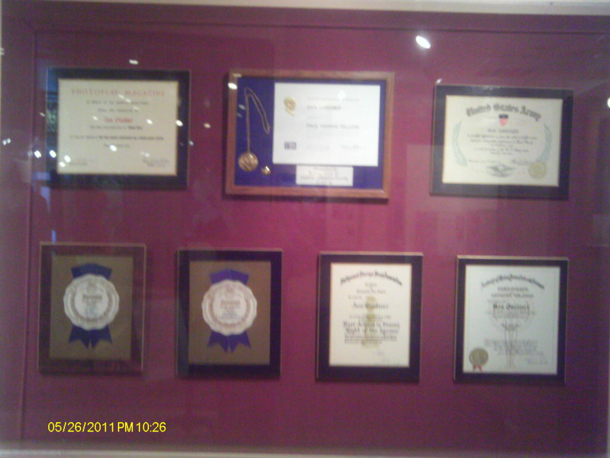 Exhibit of Gardner's Awards