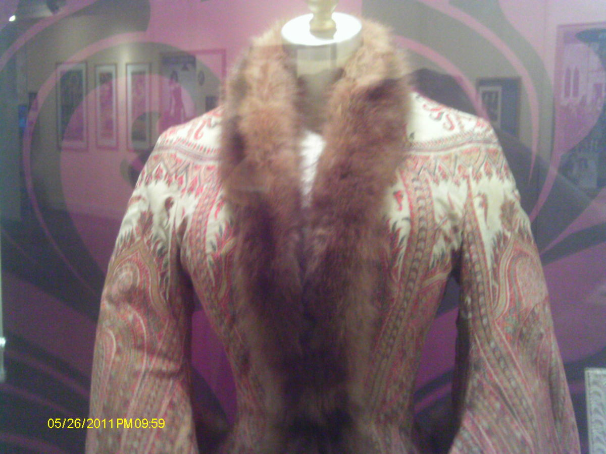 A fur edged jacket for personal use.
