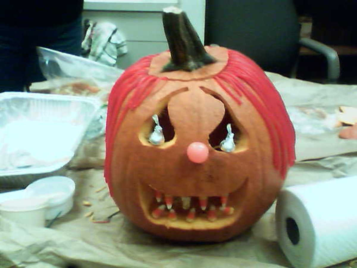 Mine and my coworkers' candy pumpkin!
