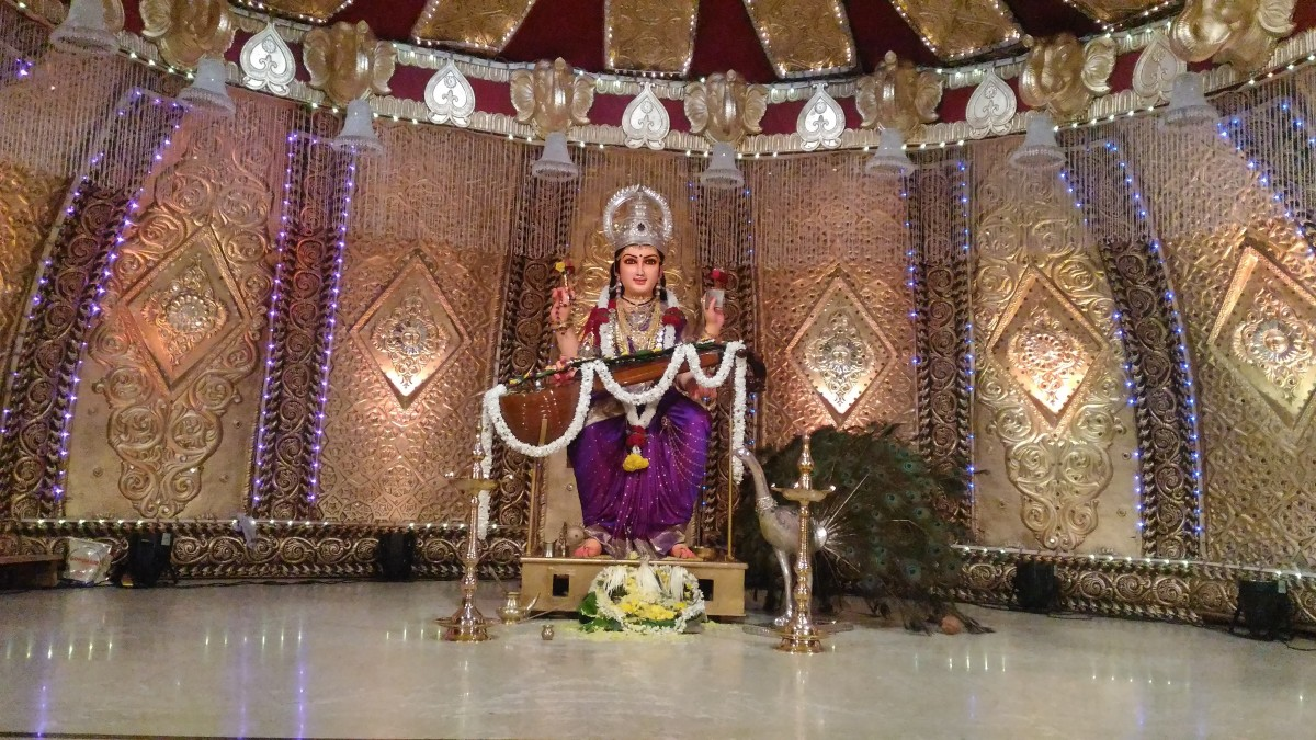 Sri Sharada statue on the Stage