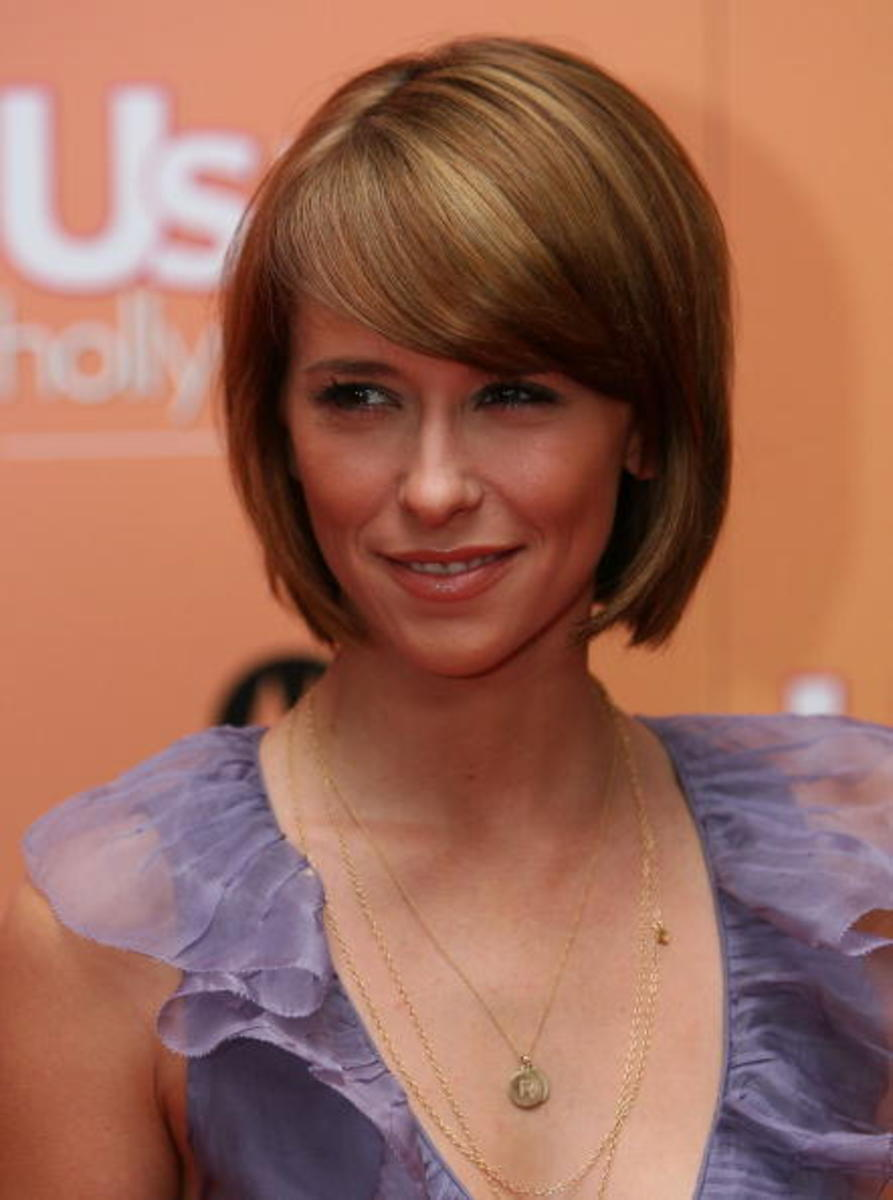 bob with side swept bangs for women