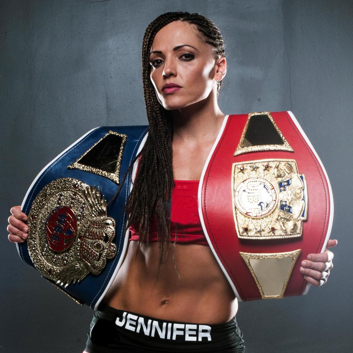 Female boxer Jennifer Salinas