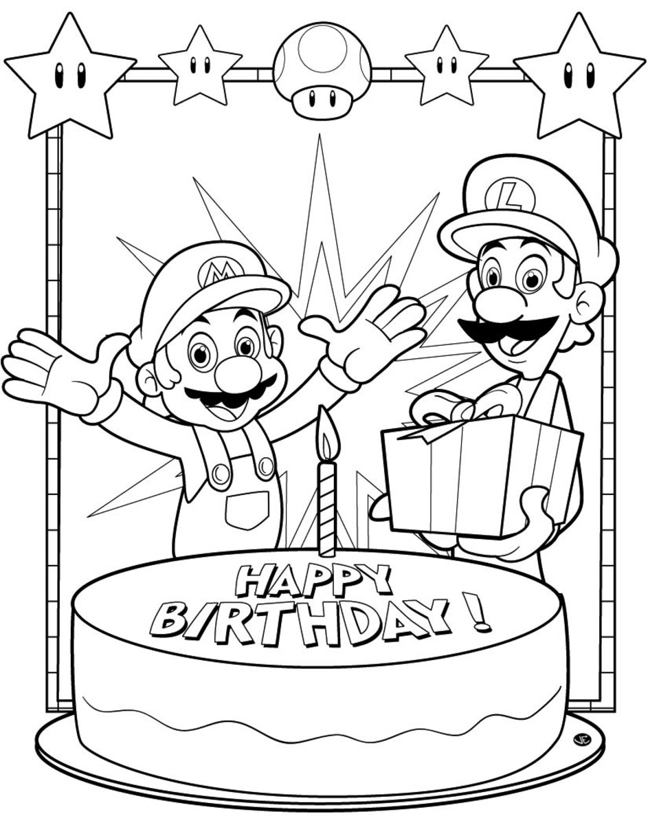 Mario and Luigi Printable Coloring Pages