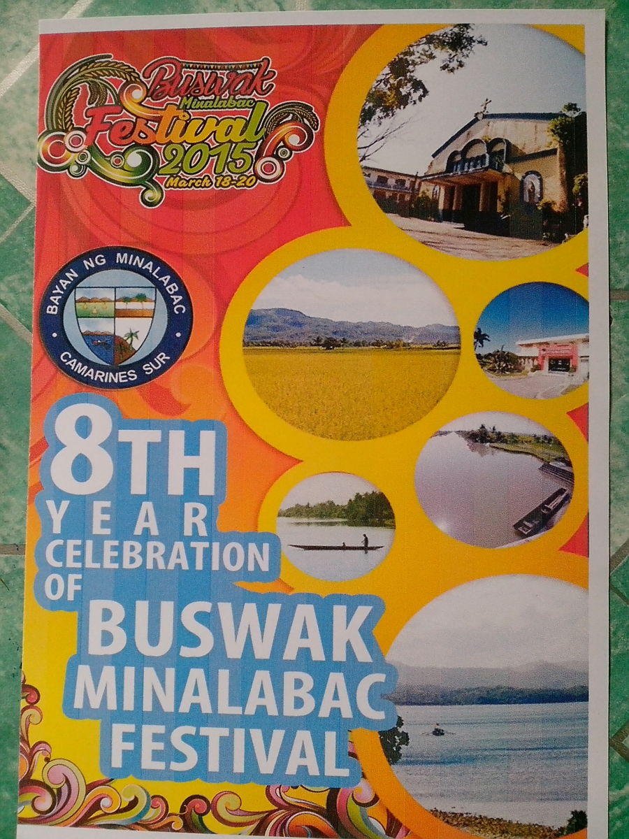 8th Year Buswak-Minalabac Program Cover (Photo Source: Ireno A. Alcala)