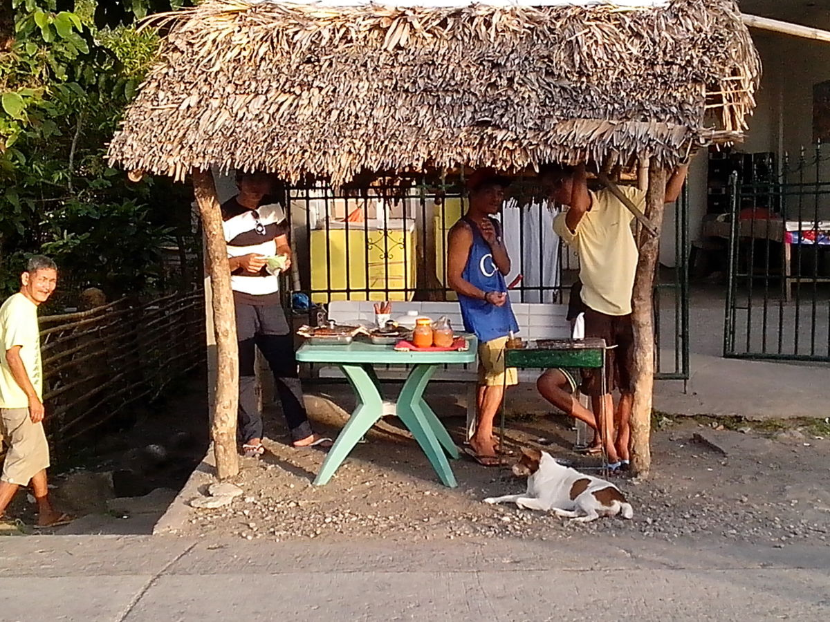 Teenagers having their cookout/barbecue business during Buswak Festival (Photo Source: Ireno A. Alcala)