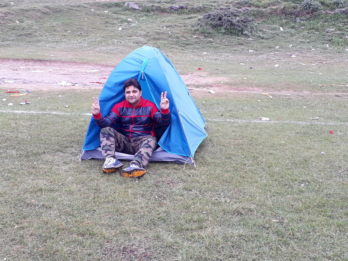 I slept throughout the night as it was raining outside but there was not a single drop of rain that entered inside my camp. The camp contained all the necessary items that helped me keep warm through the night.