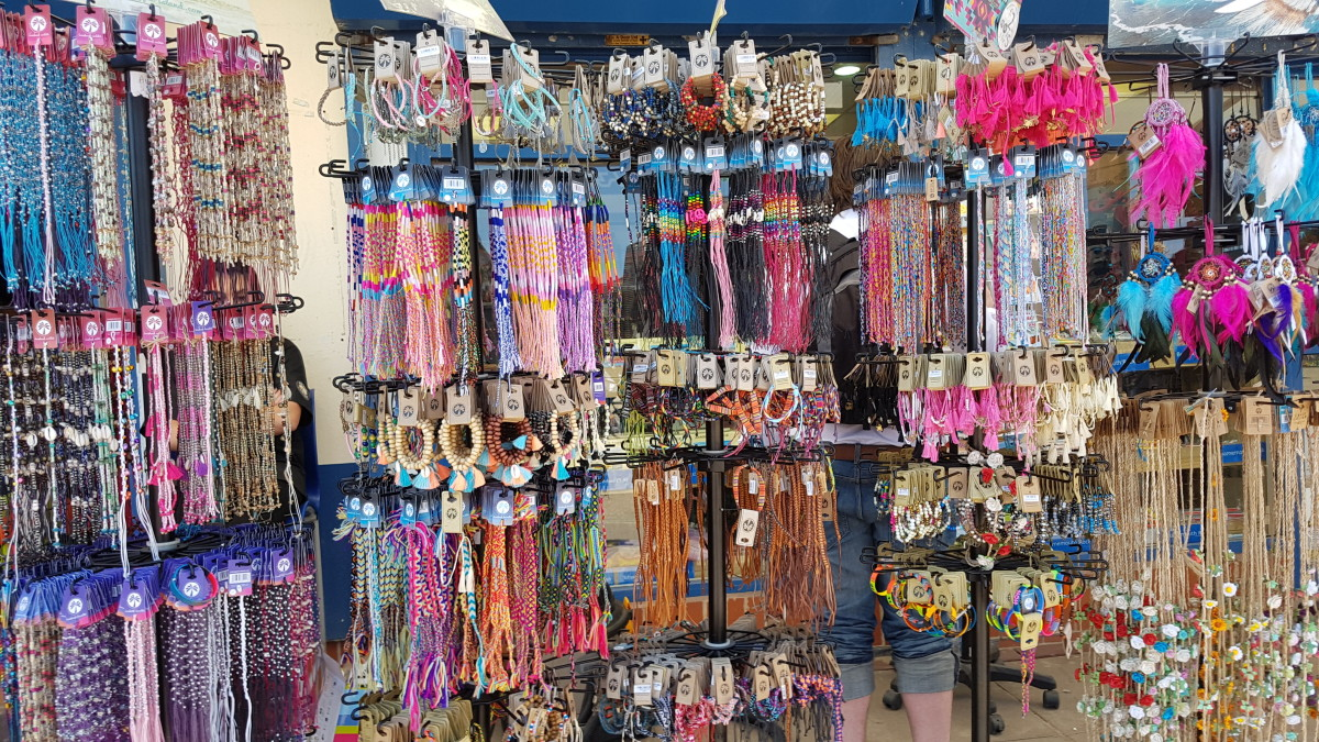 Souvenirs for Sale at the Pier