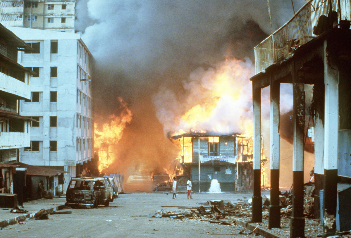 The U.S. military invasion of Panama in 1989