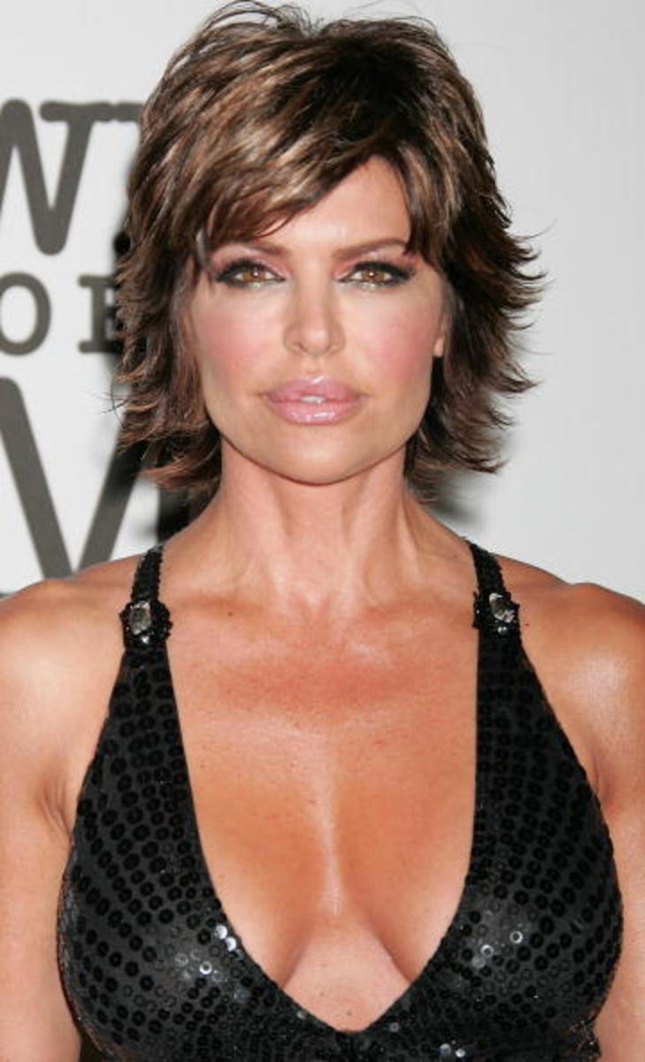 lisa rinna short shags hairstyle