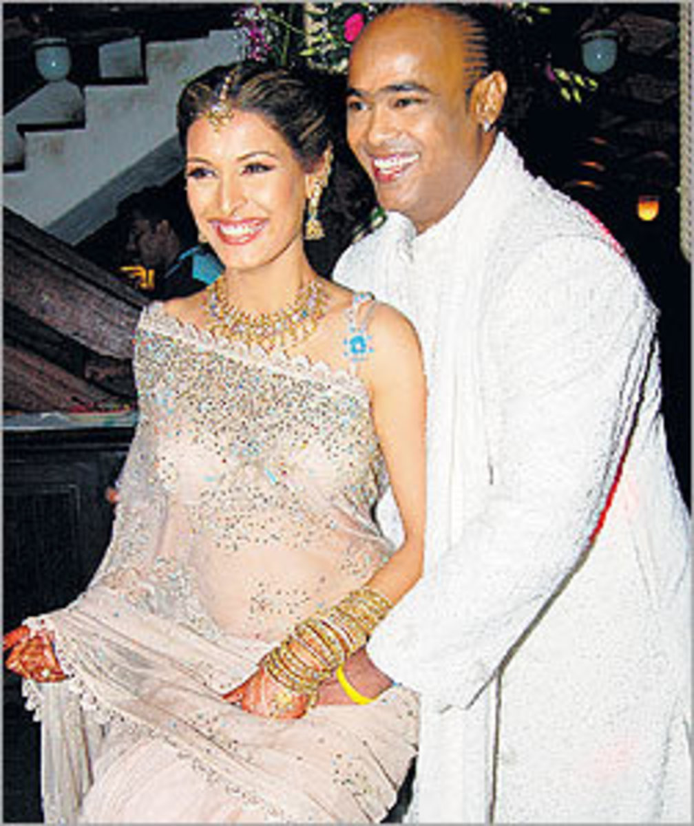 Vinod and Andrea Kambli wedding picture