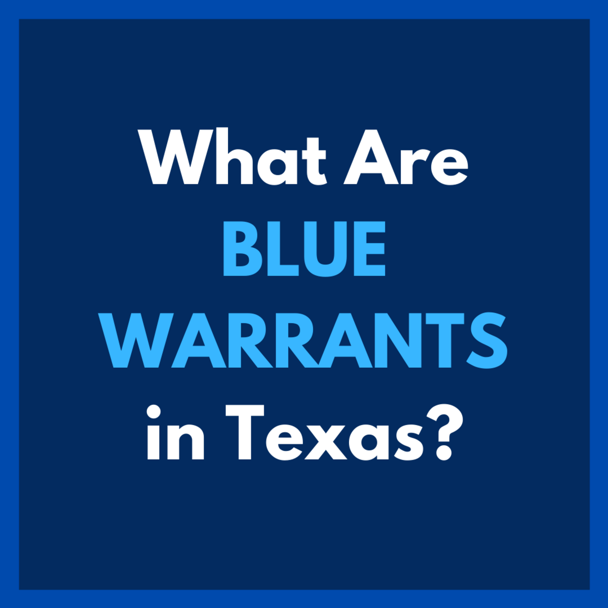 Texas' blue warrants are executed for the arrest of parolees who have violated their parole or who are about to violate their parole.