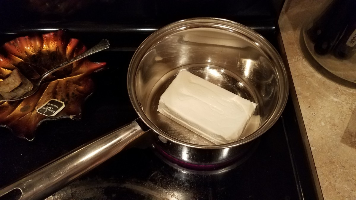 In another medium pot, start melting your cream cheese over medium-low heat.