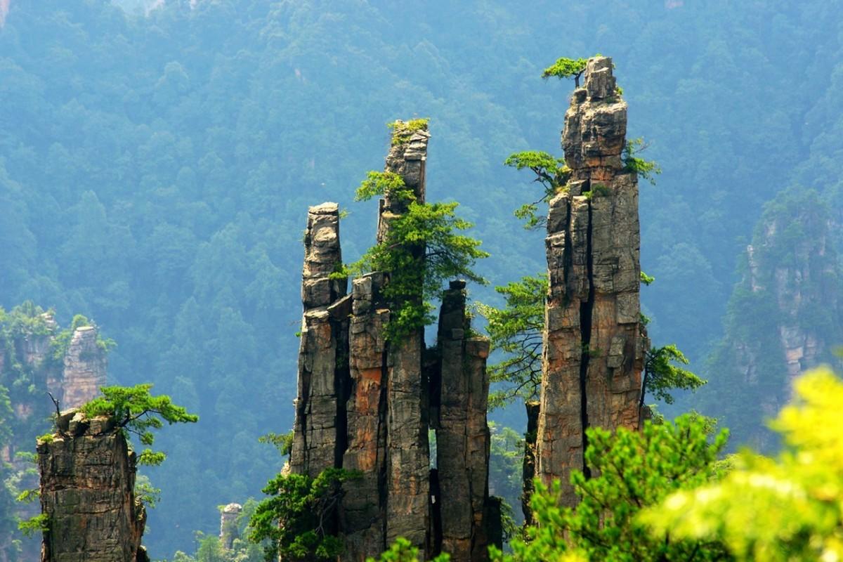 Tianzi Mountain, China.