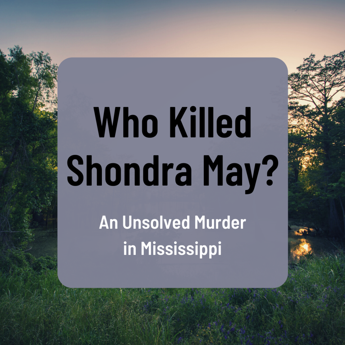 Learn about the unsolved case of Shondra May, a Mississippi girl who disappeared in 1986.