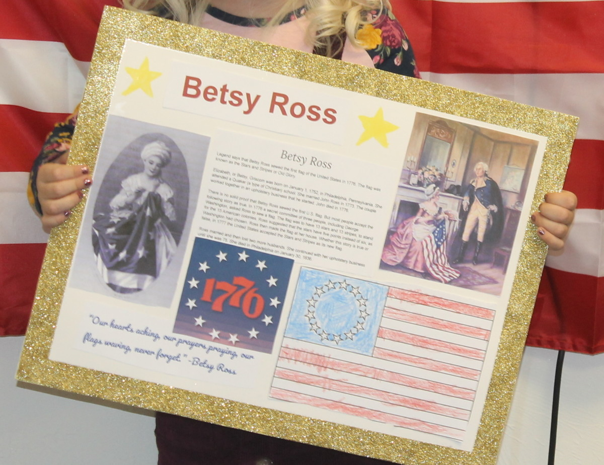 Student biography presentation on Betsy Ross