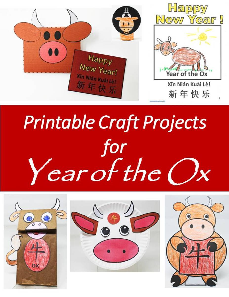 Printable Craft Projects for Year of the Ox