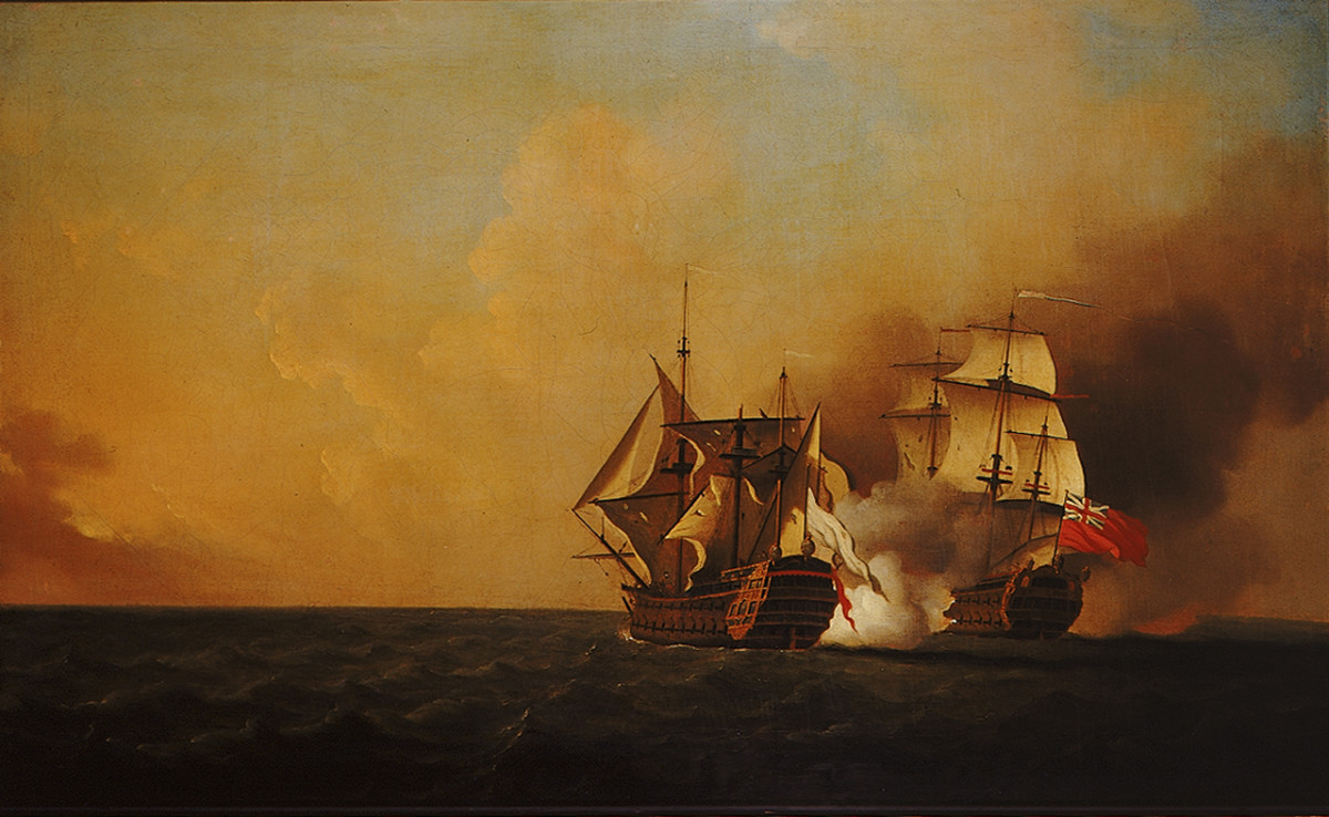 The capture of the French ship of the line Mars