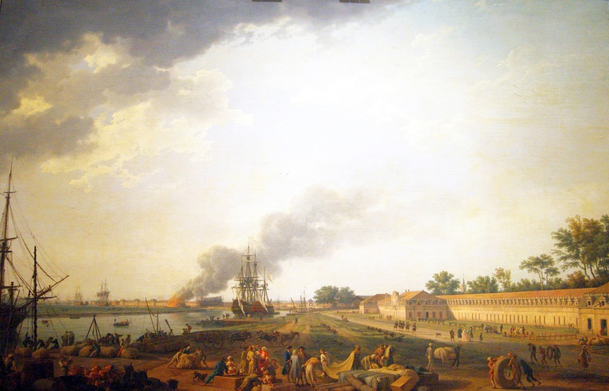 Rochefort was one of the principal ports of France.