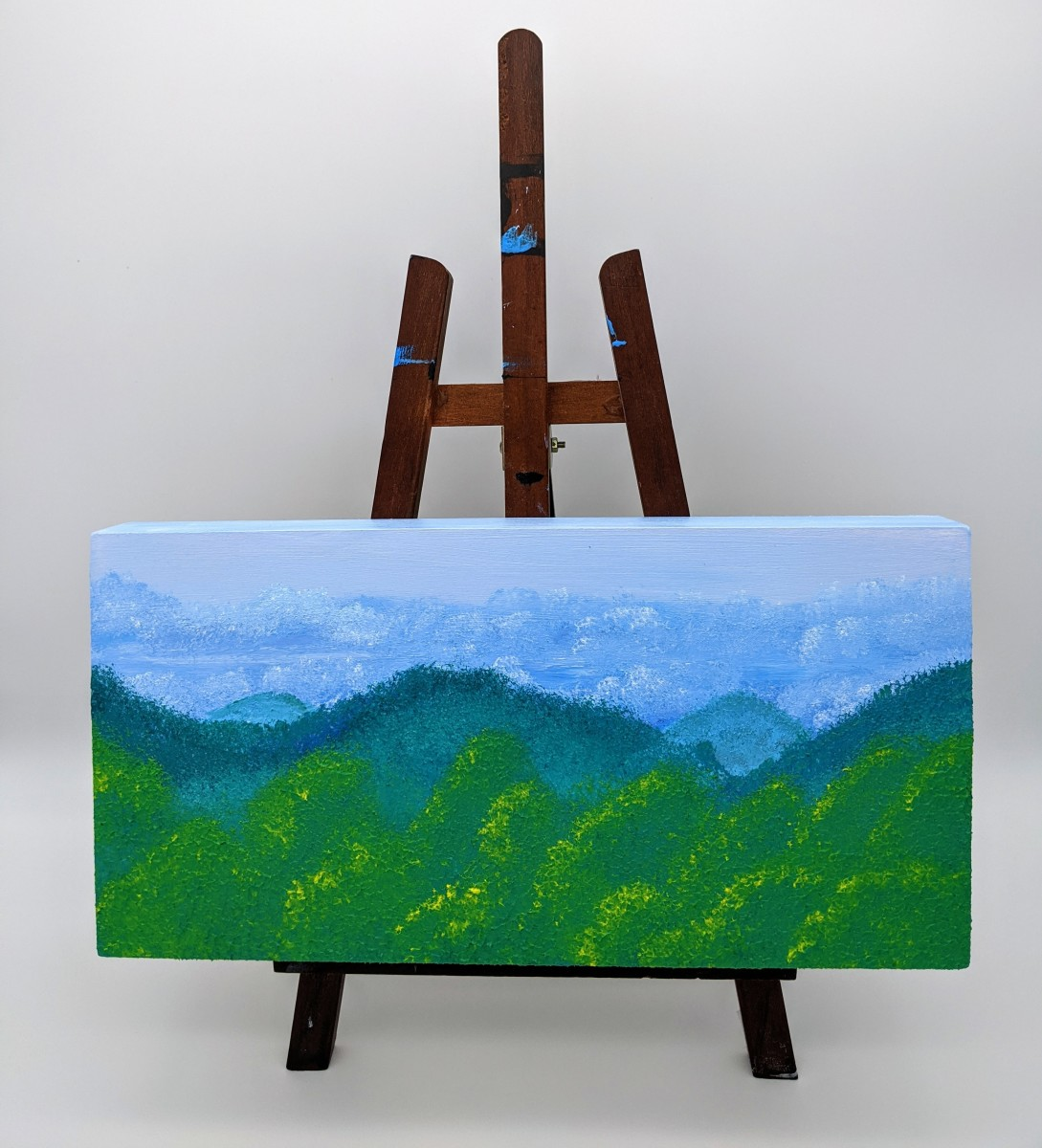 """Mountain Morning"" Acrylic Painting on Canvas By Robin Turner"