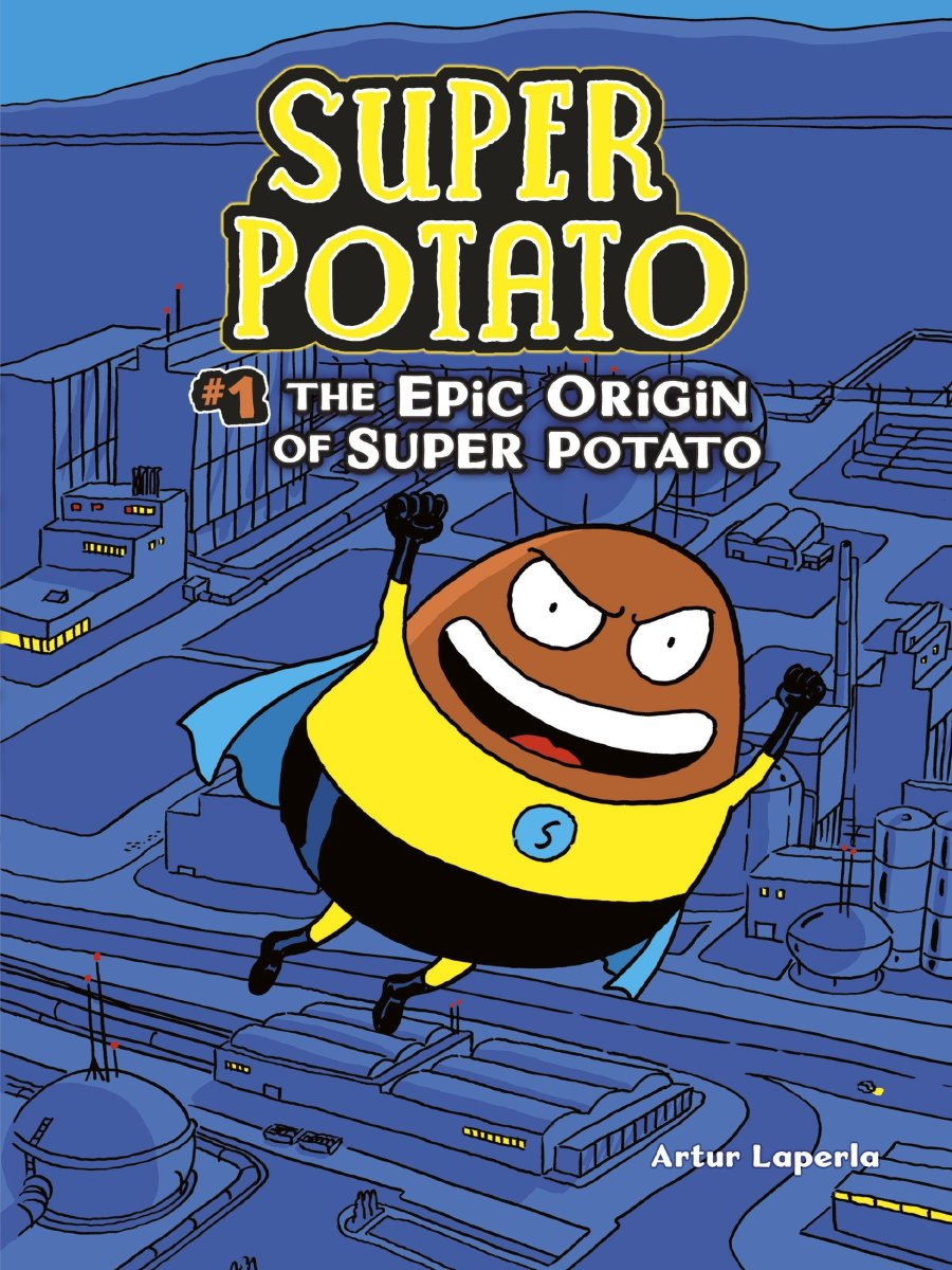 The Epic Origin of Super Potato by Artur Laperla features color pictures, humor, and an unusual superhero.