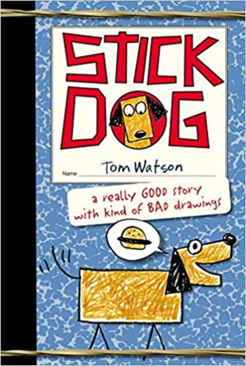 Stick Dog by Tom Watson features humor, an animal main character and illustrations that look like they are drawn by a kid.
