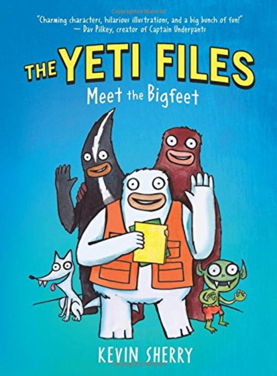 The Yeti Files: Meet the Bigfeet by Kevin Sherry features humor, fantastical creatures, and illustrations on every page.