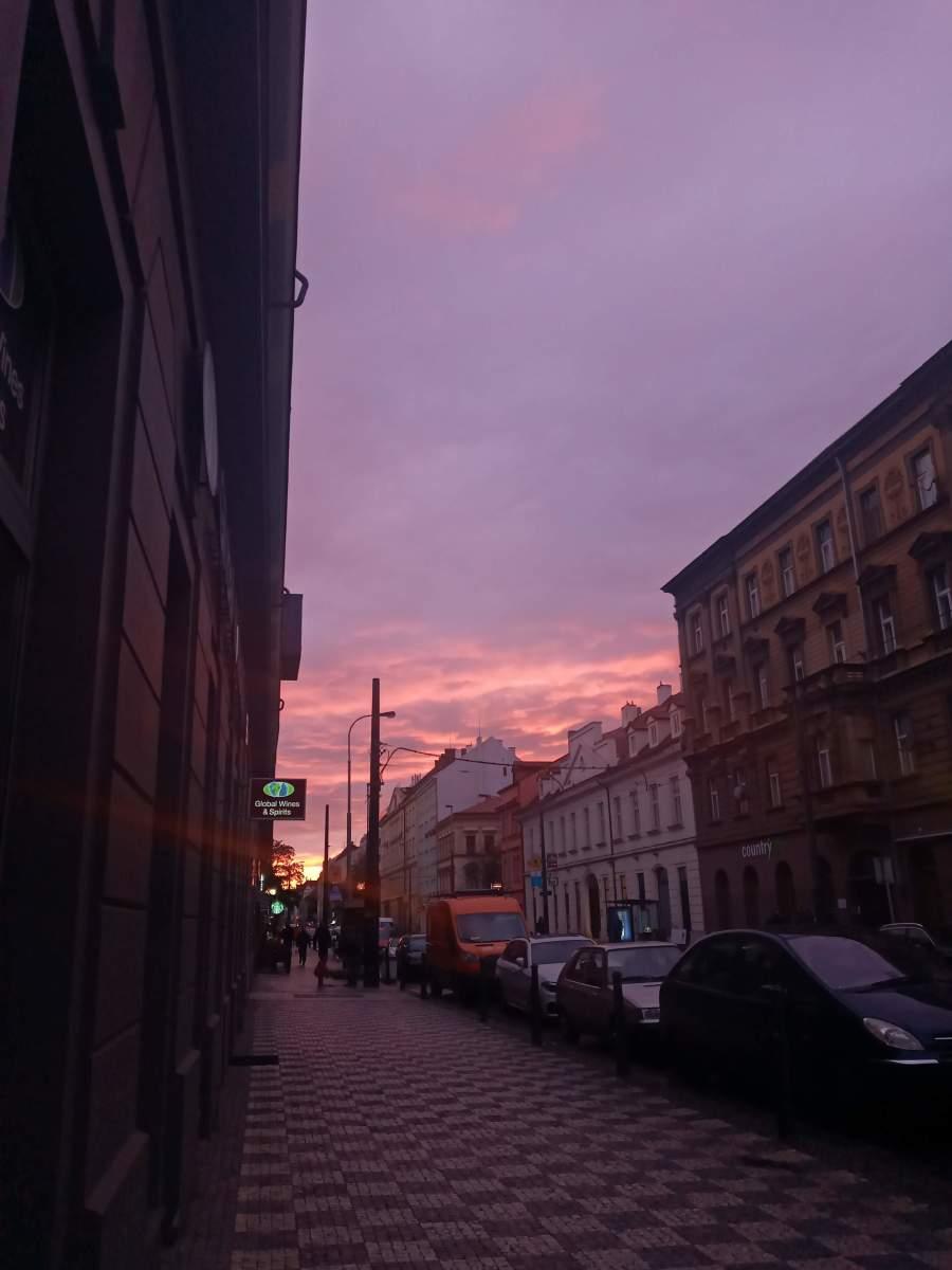 The quiet streets of Prague in lockdown