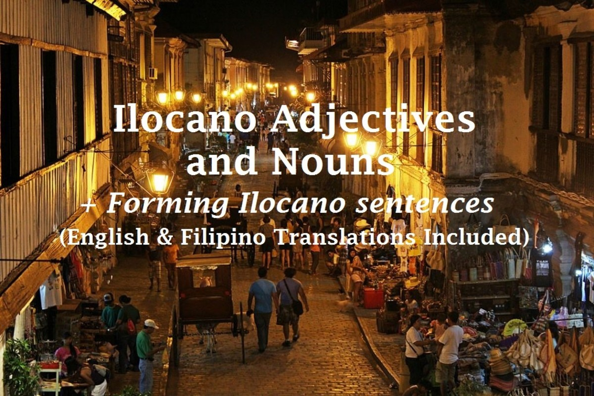 Here are some commonly used adjectives and nouns in Ilocano which you can use to start constructing sentences.