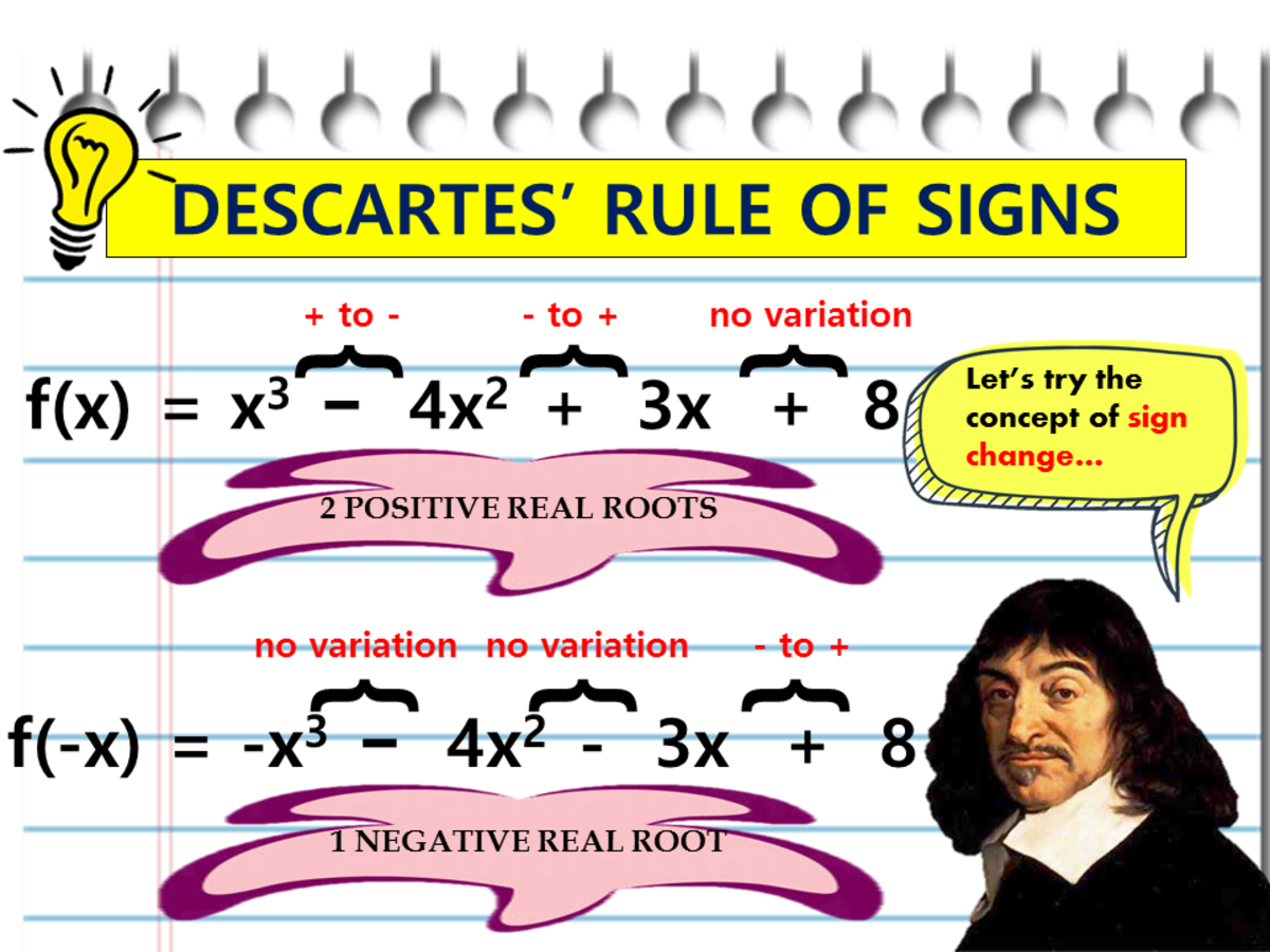 How to Use Descartes' Rule of Signs (With Examples)