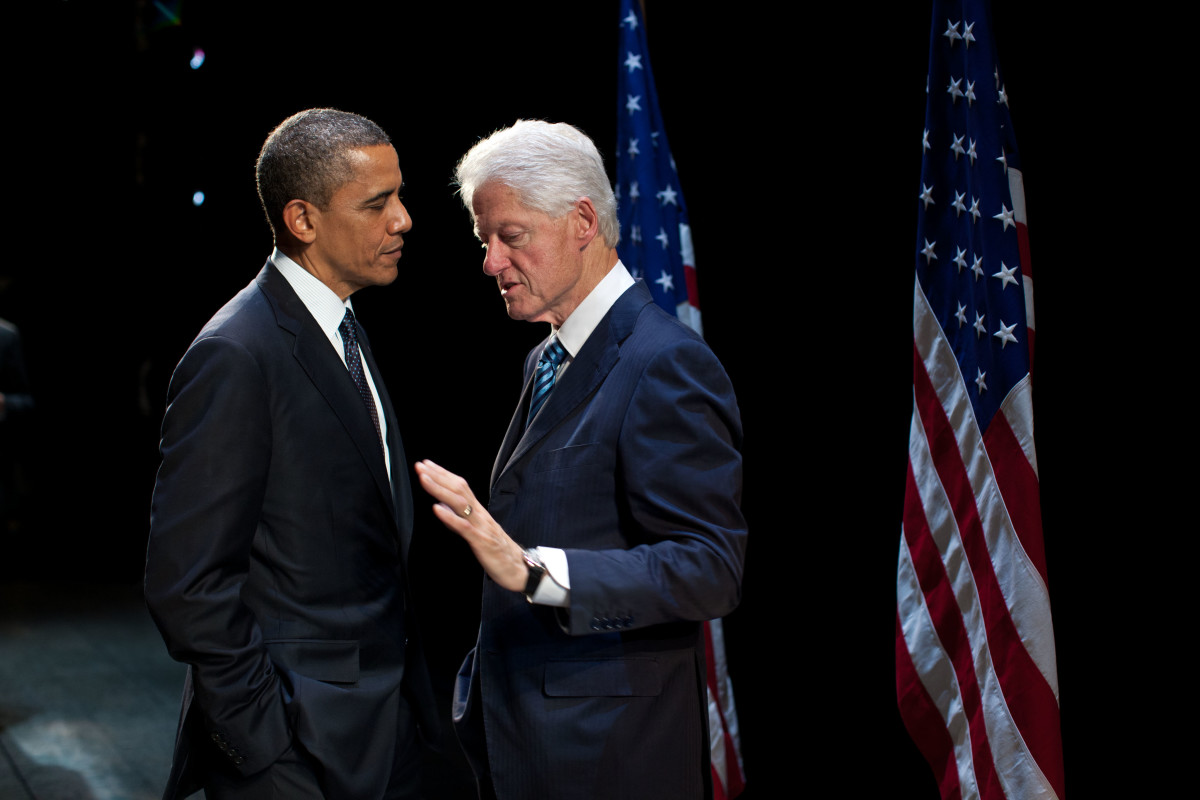 Barak Obama and Bill Clinton were both democratically elected twice to the post of the president of the USA. Donald Trump is the current president of the USA after beating Hilary Clinton in 2016.