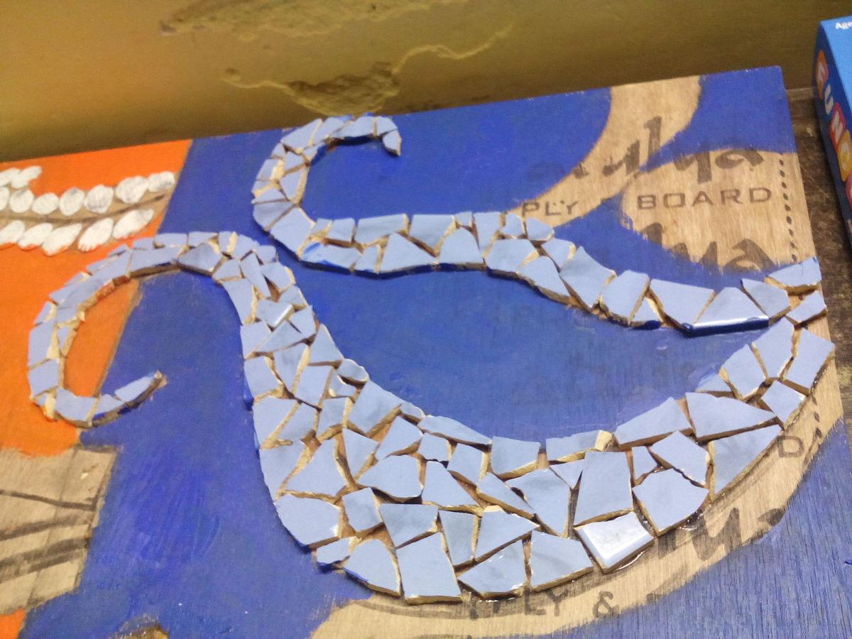 Paste blue tiles