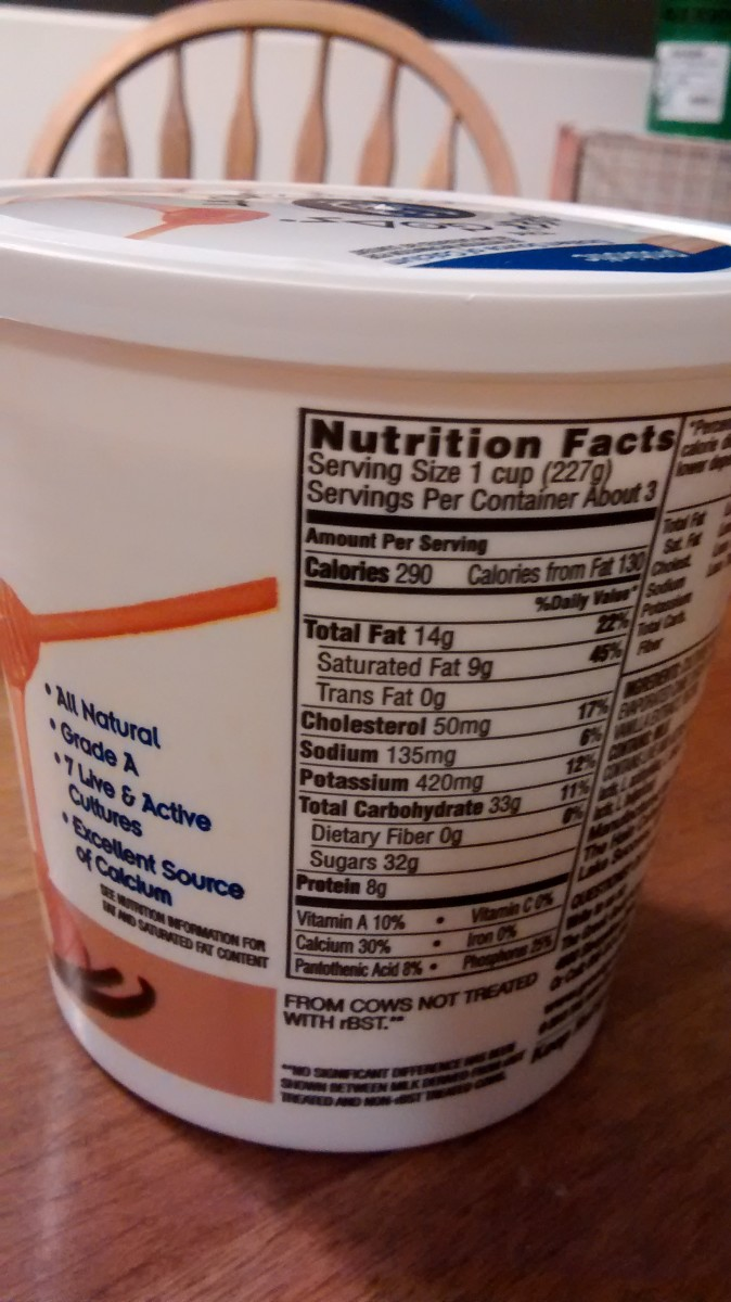 Greek yogurt is a popular health food, but take a look at how many grams of sugar are in just one serving. That's more than your allowance for the day. Consider buying plain yogurt and adding fruit to it or mixing it with a flavored yogurt.