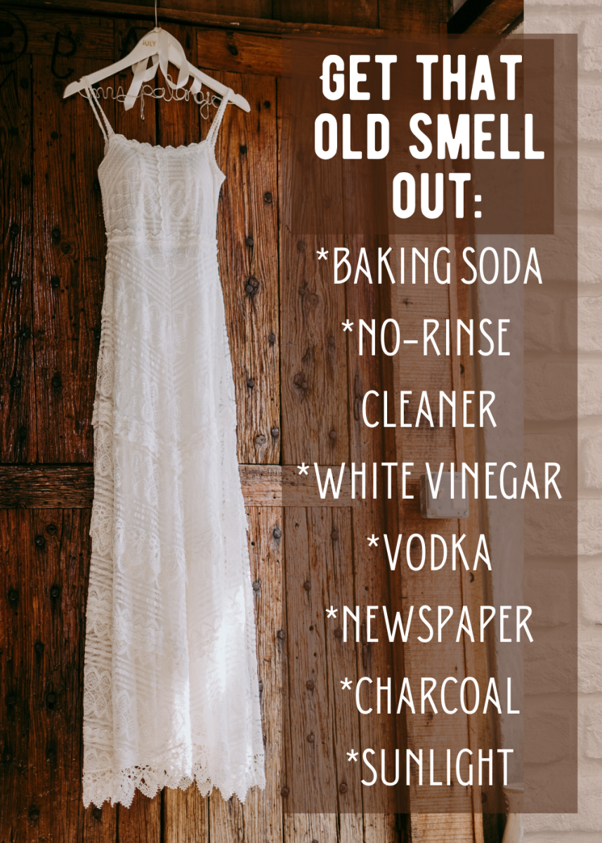 How to get old smells out of old clothes.