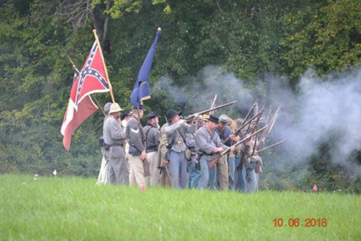 Confederate Battle reinactment.