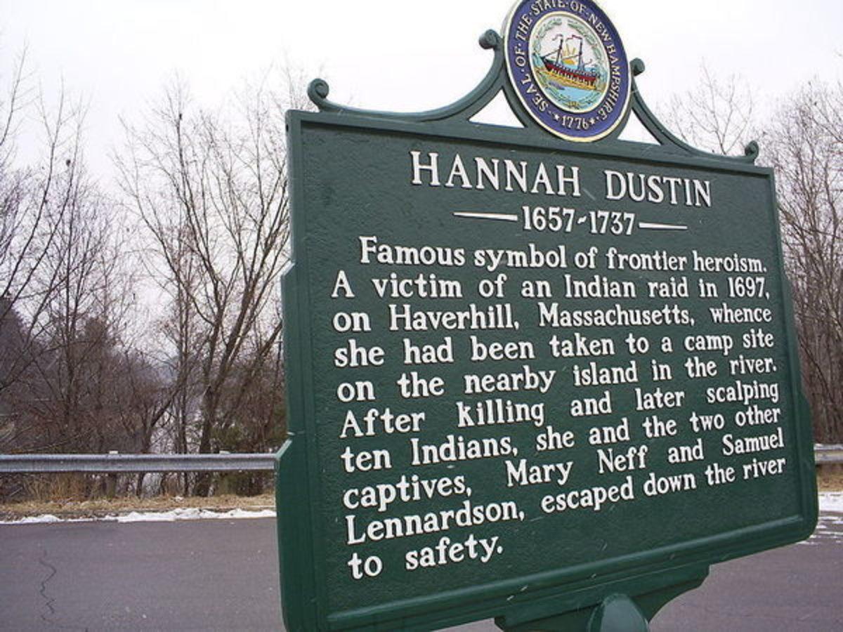 Hannah Duston Marker