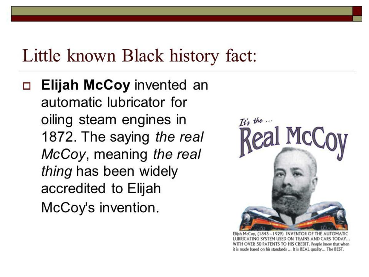 Elijah J. Mccoy: The Real Mccoy