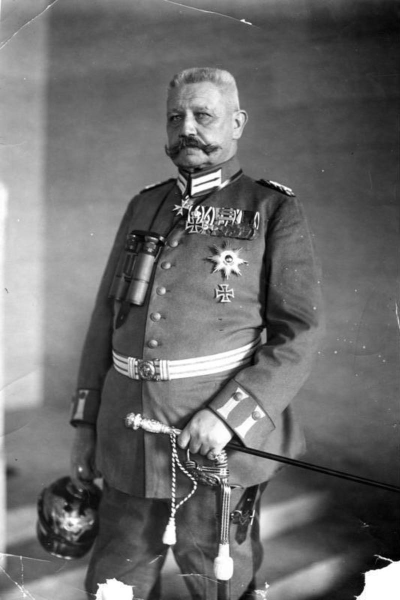 Field Marshall Paul von Hindenburg.