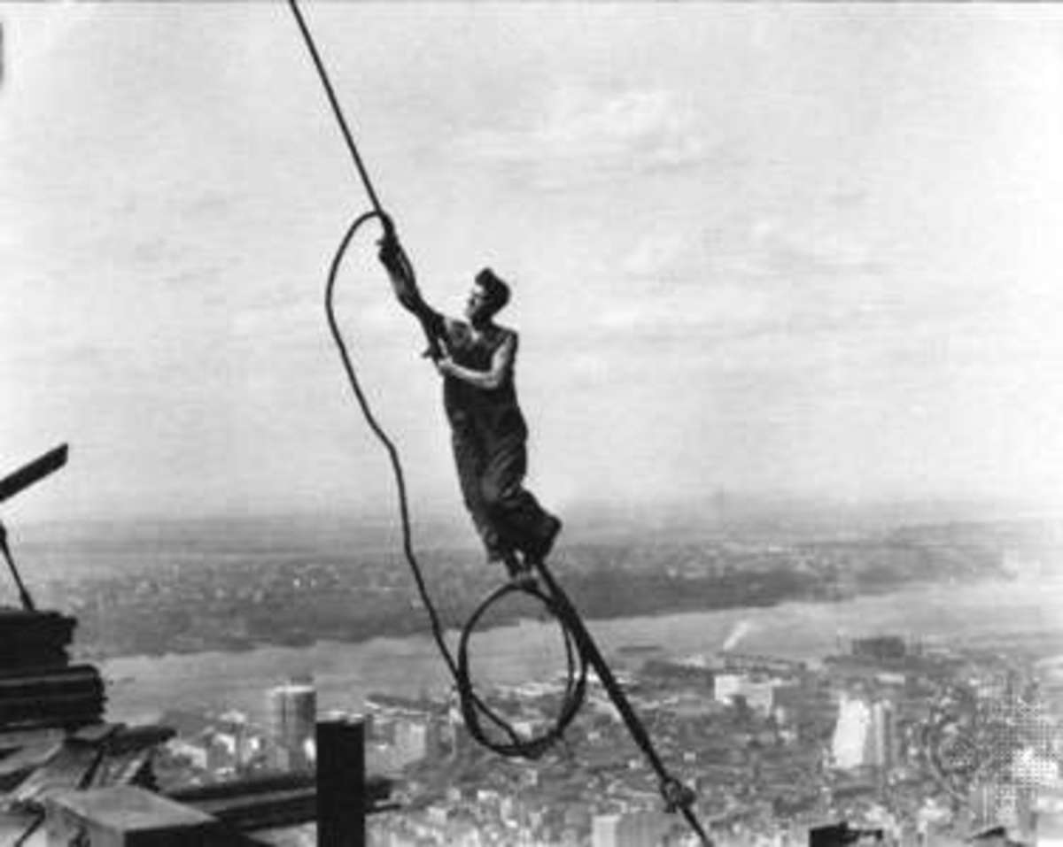 Lewis Hine on Empire State Building