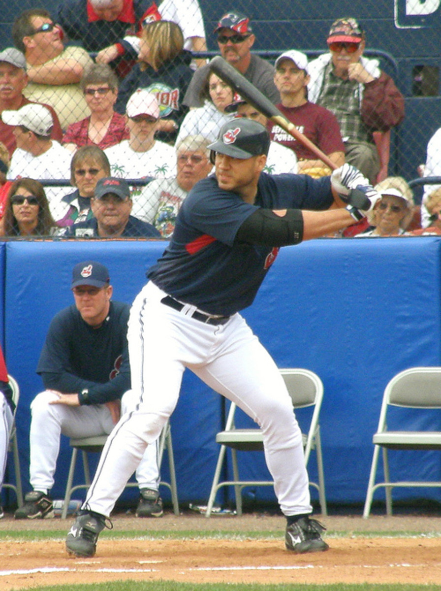 Travis Hafner is one of seven Indians players ever to hit more than 40 home runs in a season.