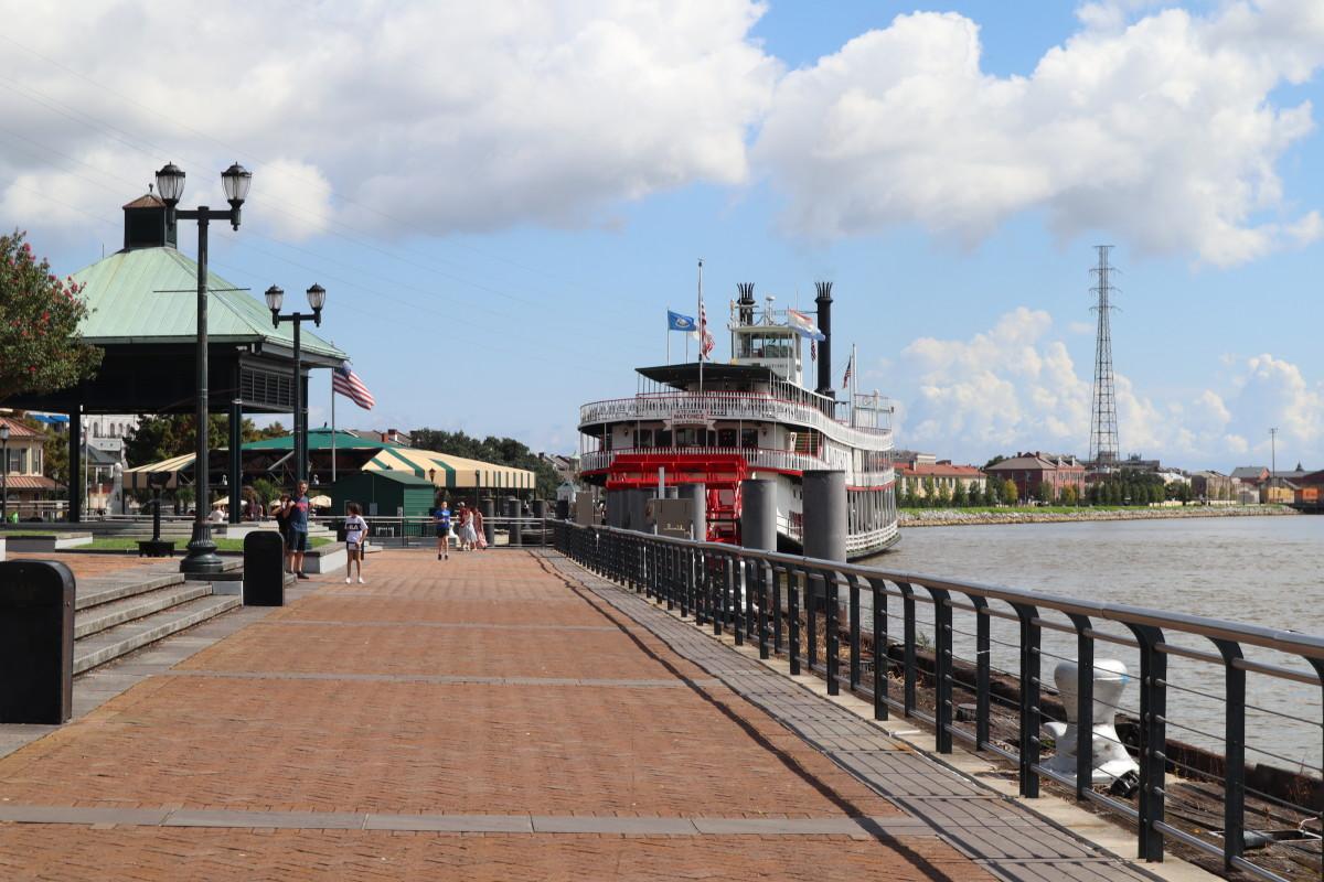 New Orleans Mississippi Dock.