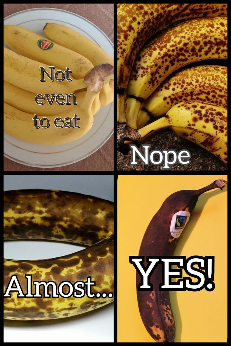 The Browner the Banana, the Better the Bread! Some Bakers even prefer Black Bananas.