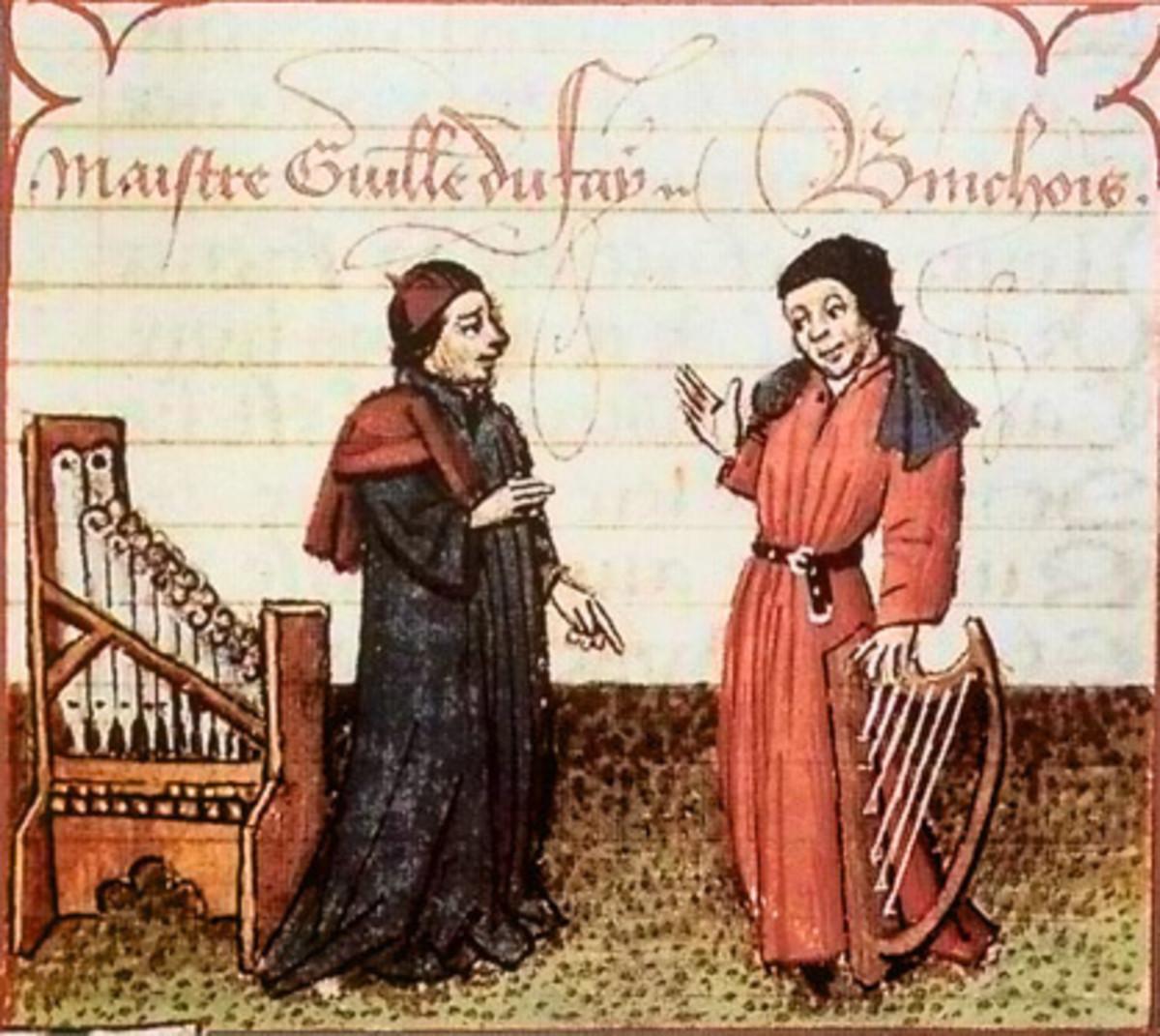 Guillaume Dufay (c. 1397-1474) (left)