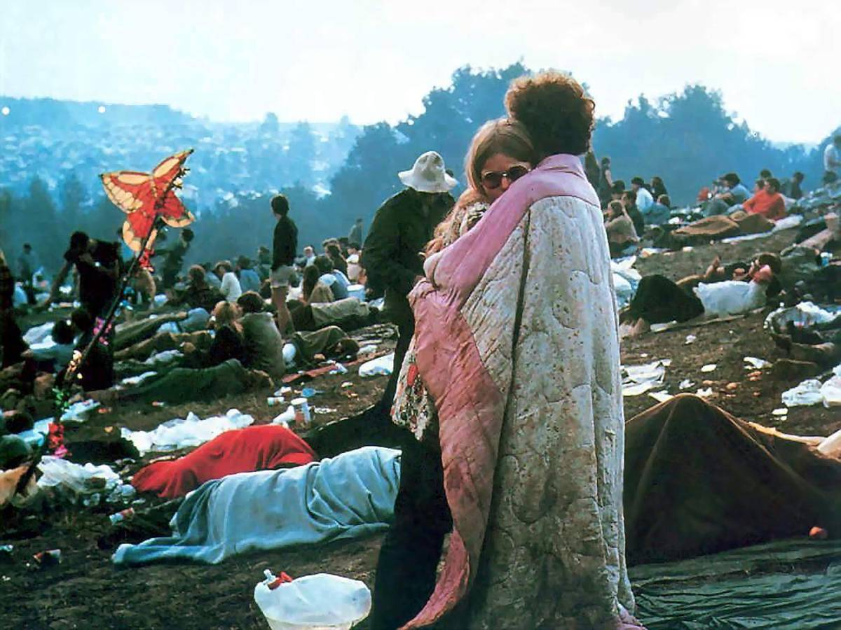 This picture from the morning after Woodstock became an icon of the festival, appearing many times in the national press.