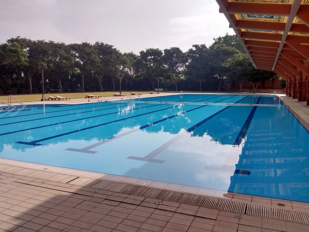 AKU Sports Complex swimming pool, a perfect place to relax.