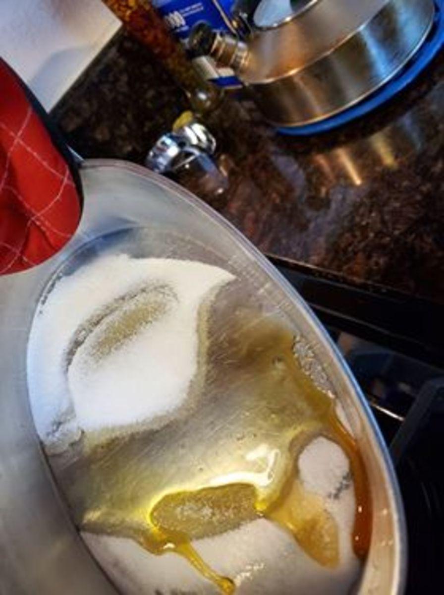 Photo 2. Sugar melting in llanera.
