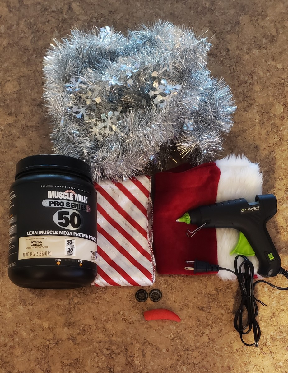 These are the materials and supplies I used to create my adorable snowman decoration.
