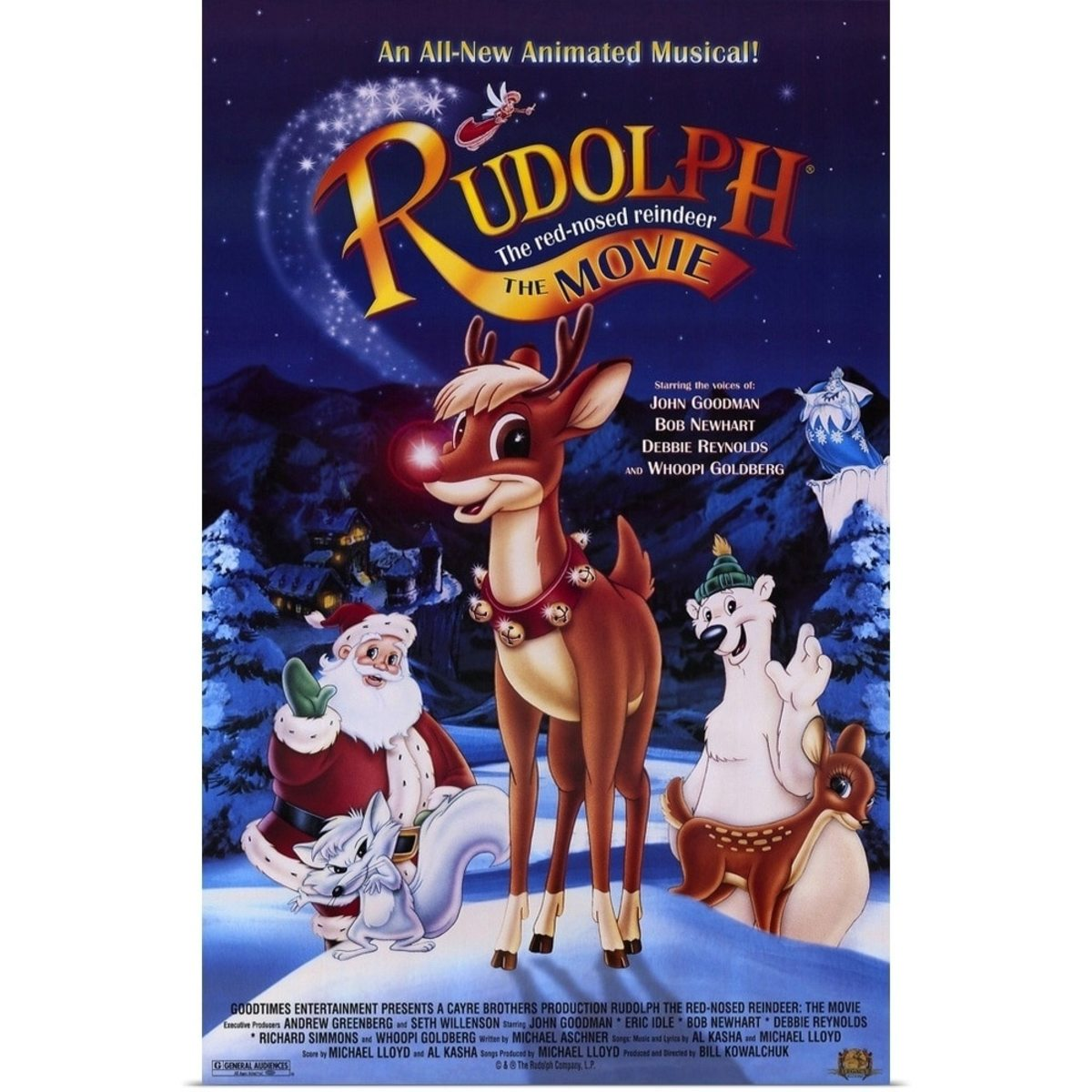 """Rudolph The Red-Nosed Reindeer: The Movie"" Poster"